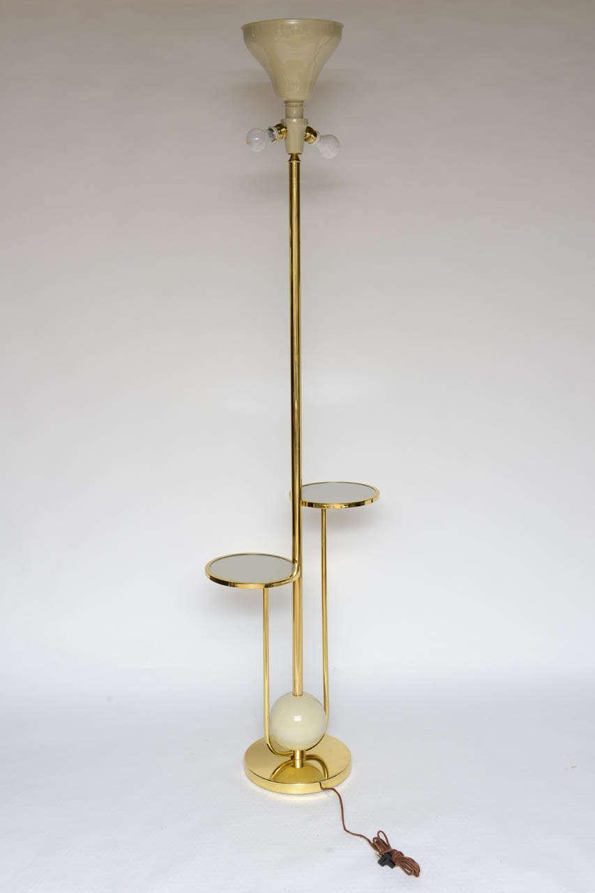 Vintage Tall Italian Tray Floor Lamp