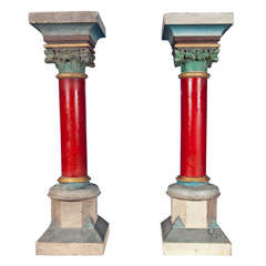 Pair of Early 20th Century Belgian Decorative Pillars