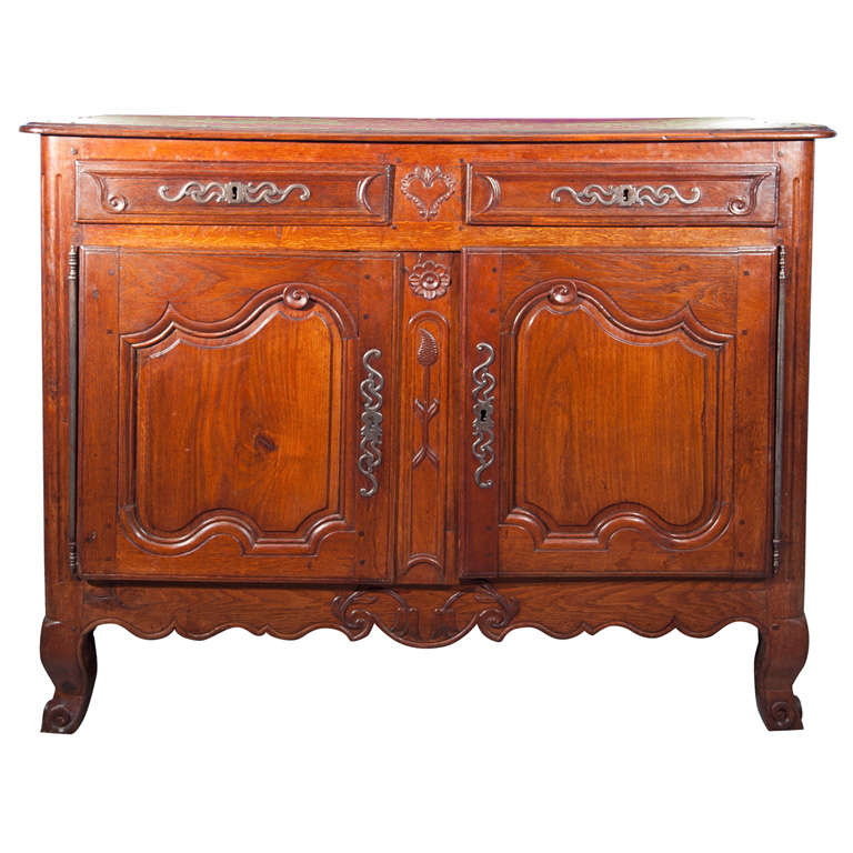 Regal French Louis XV Period Cherrywood Buffet