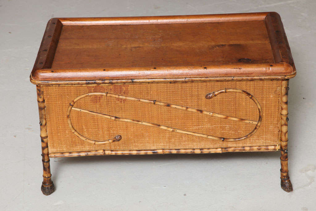 American Bamboo Trunk Table At 1stdibs