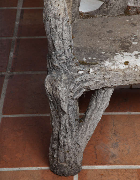 Faux Bois Garden Bench In Good Condition For Sale In Washington, DC