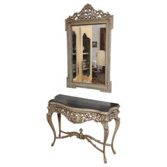 Console Table & Matching Mirror