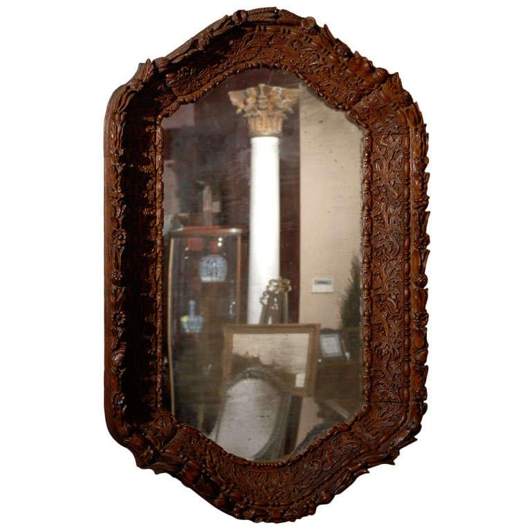 19th Century Black Forest Mirror