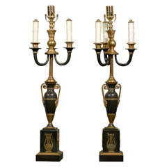 Pair of Empire Lamps
