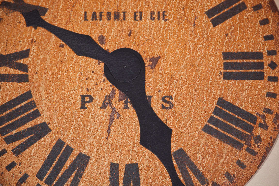 Large Decorative Clock Face At 1stdibs