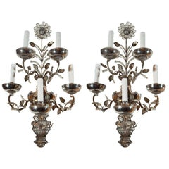 Significant Pair of Bagues Sconces