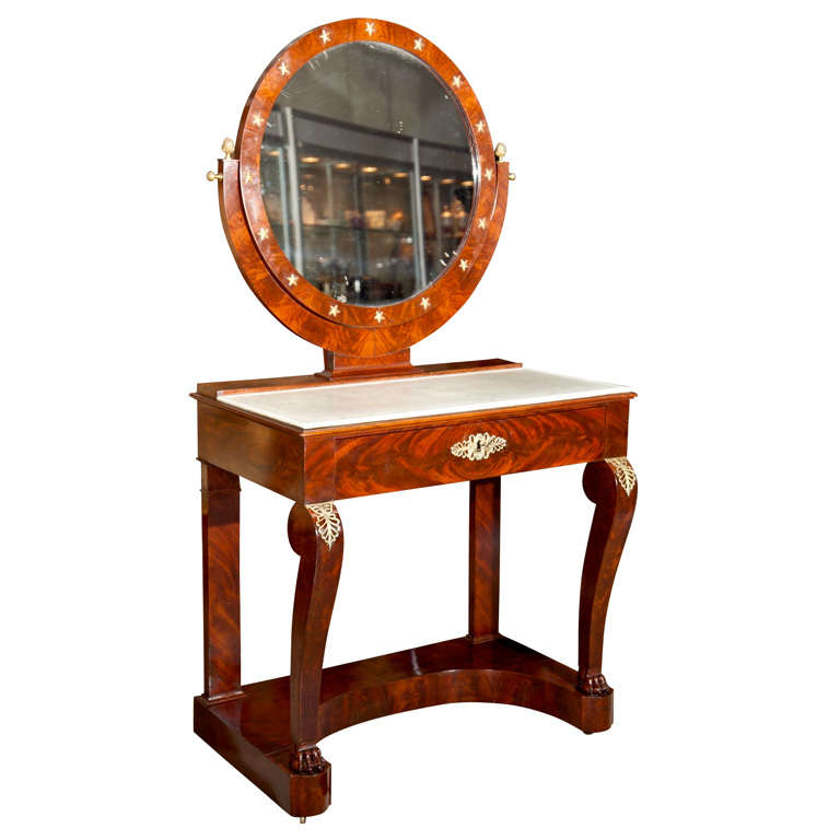 French Charles X Dressing Table