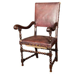 17th Century Walnut Armchair