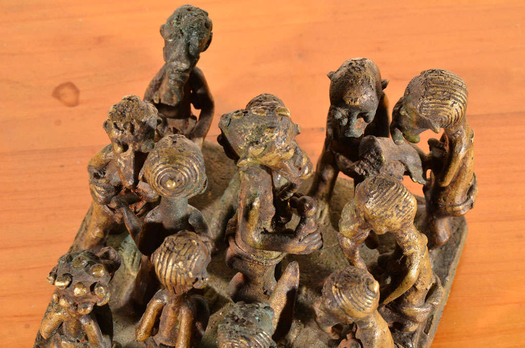 Ashanti Brass Figural Grouping For Sale 4