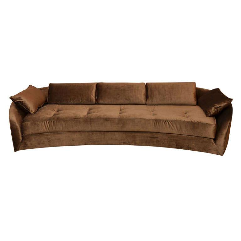 Glamorous Silk Velvet Sofa At 1stdibs