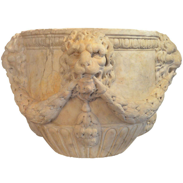 Florentine or roman carved marble vase th century at