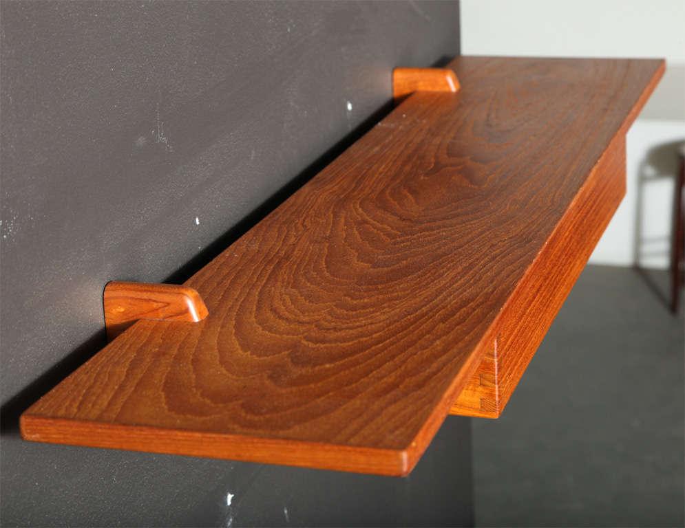 Decorative Wall Mounted Shelf And Storage Drawer : Wall mounted teak shelf with drawer by aksel kjaersgaard