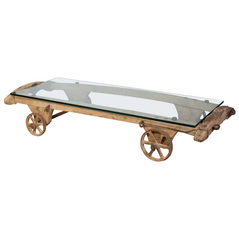 Large Coffee Table Cart on Wheels