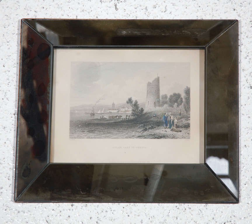 ... Hand-Colored Engravings in Antique Mirror Frames For Sale at 1stdibs
