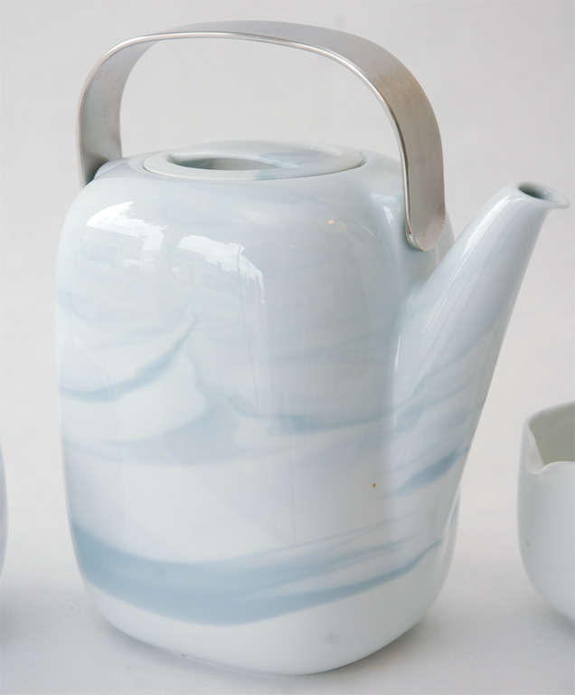 Tea Service In Queensberry Marble Pattern By Rosenthal Studio Line