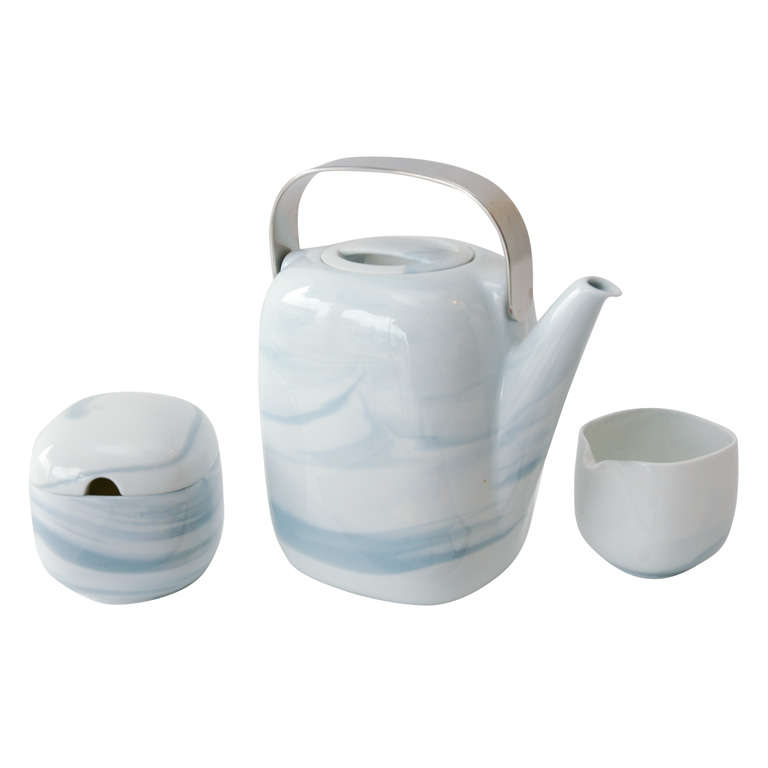 Tea Service in Queensberry Marble Pattern by Rosenthal Studio-Line