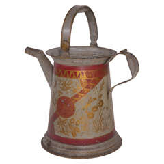 19th Century American Zinc Watering Can