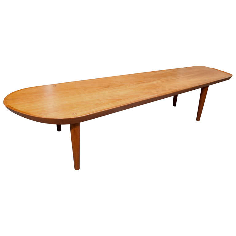 Arne Hovmand Olsen Surf Board Coffee Table At 1stdibs