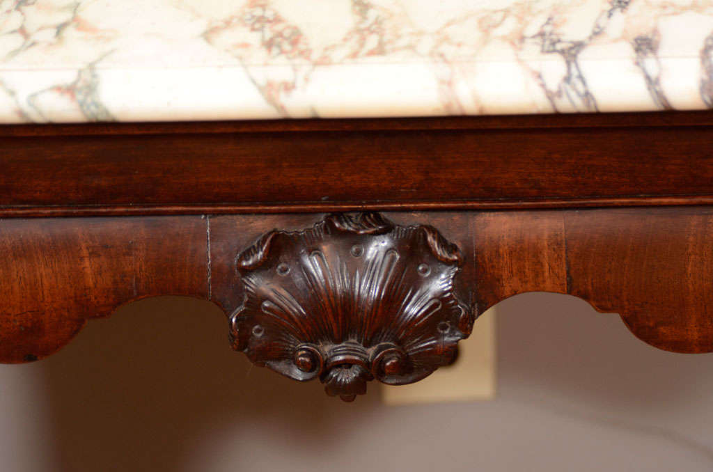 18th Century Irish Console Table with Original Shaped Marble Top 7