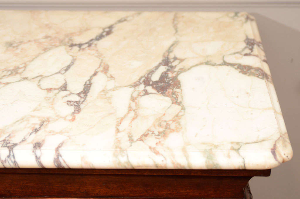 18th Century Irish Console Table with Original Shaped Marble Top 8
