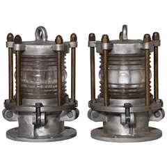 pair of WWII Submarine Lights