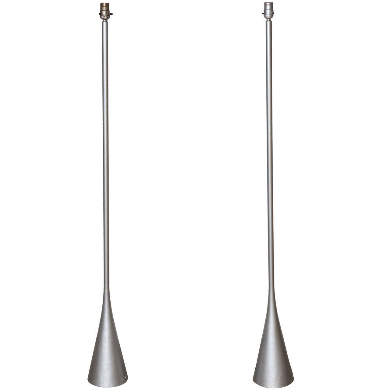 pair of modern pascal mourgue for ligne roset cast aluminum bedside floor lamps for sale at 1stdibs. Black Bedroom Furniture Sets. Home Design Ideas