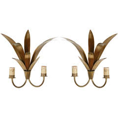 Pair of French Double Sconces