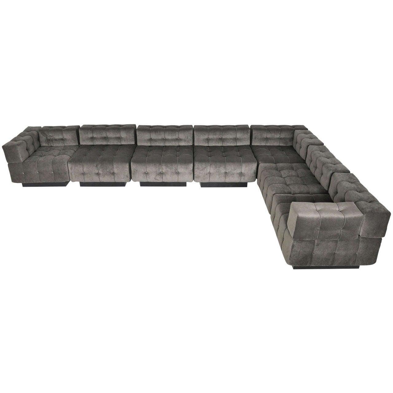 Harvey probber modular sofa at 1stdibs for Modern modular sectional puzzle sofa