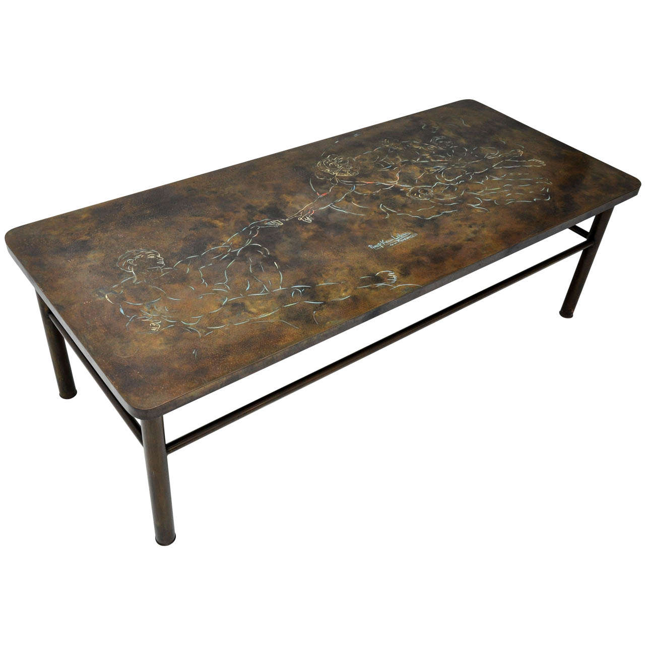"""Philip and Kelvin Laverne """"Creation of Man"""" Coffee Table"""
