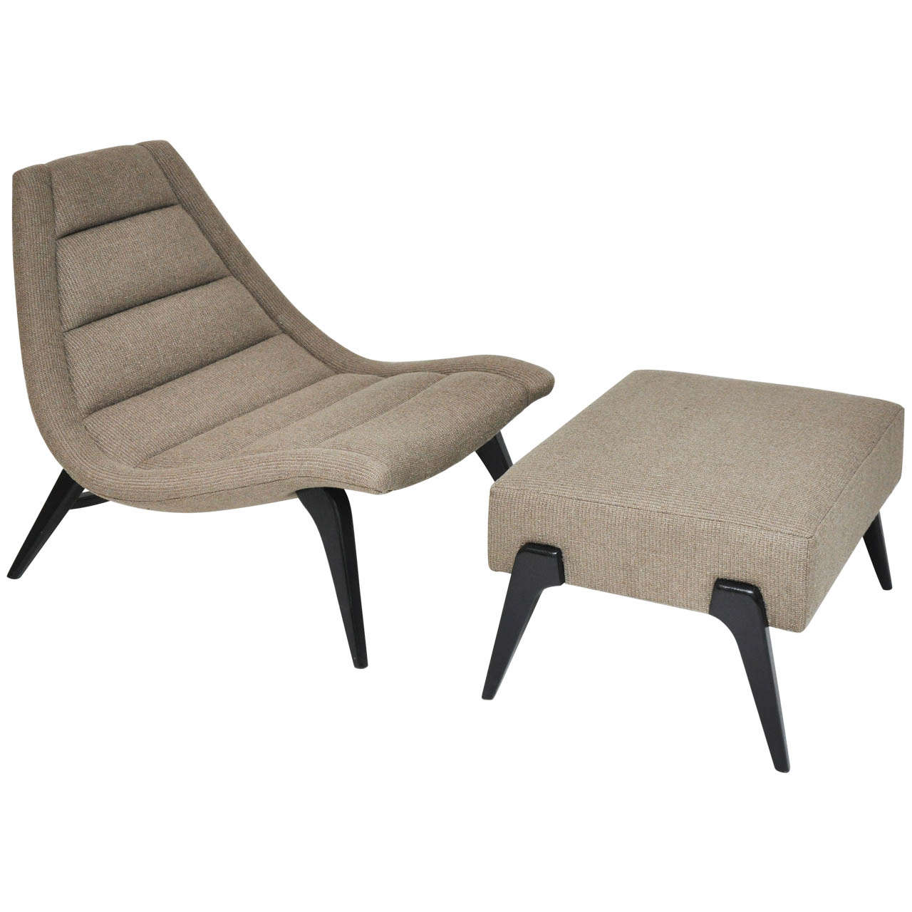 Mid Century Scoop Lounge Chair At 1stdibs