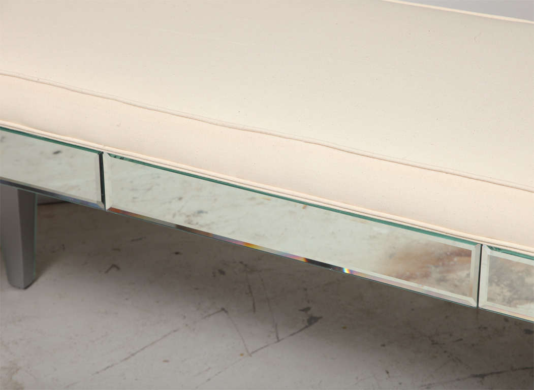 Modern beveled mirrored bench for sale at 1stdibs for Contemporary furniture west palm beach