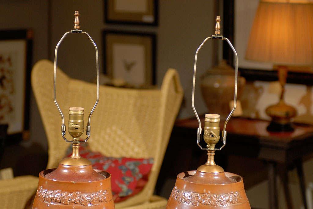 Salt Lamps Cork : 19th Century English Whisky Salt Glazed Barrel Lamps at 1stdibs