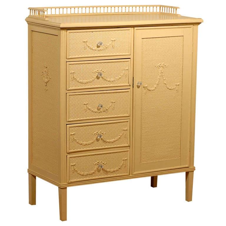 American s wicker chest of drawers at stdibs