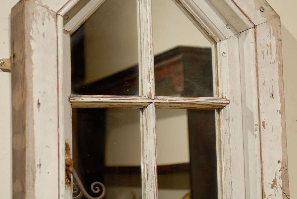 English Wood Window Frame made into a Mirror 4