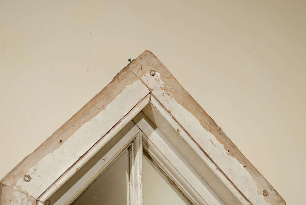 English Wood Window Frame made into a Mirror 5