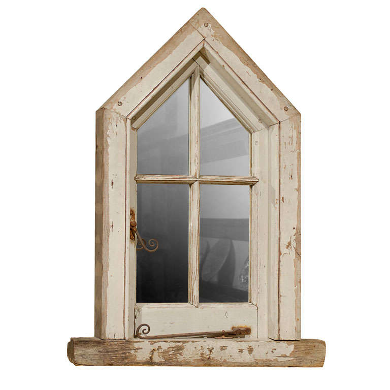 English Wood Window Frame made into a Mirror