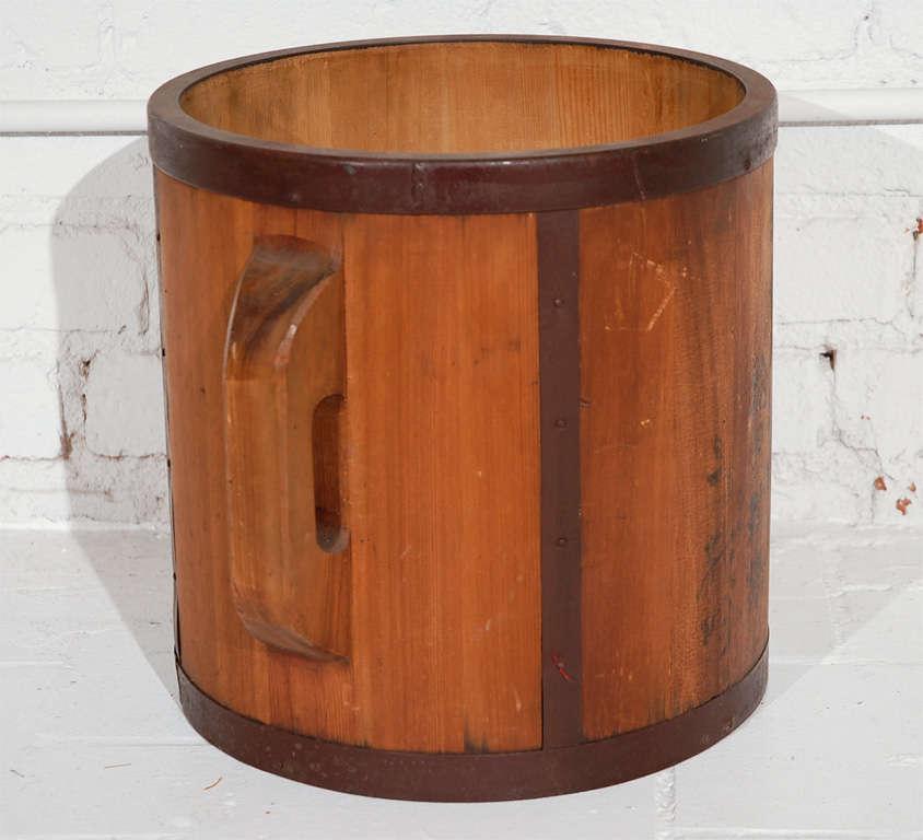 Vintage Japanese Rice Bucket at 1stdibs