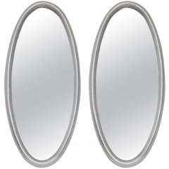 Pair of Silver Leafed Mirrors