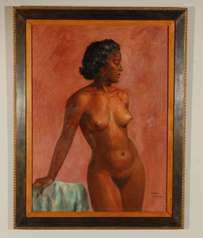 1950's Oil on Canvas Nude Painting By: Mark Mohler 2