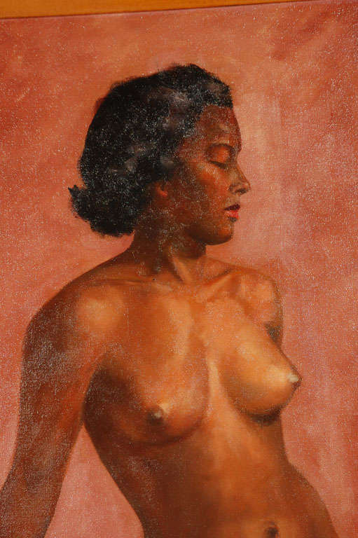 1950's Oil on Canvas Nude Painting By: Mark Mohler 3