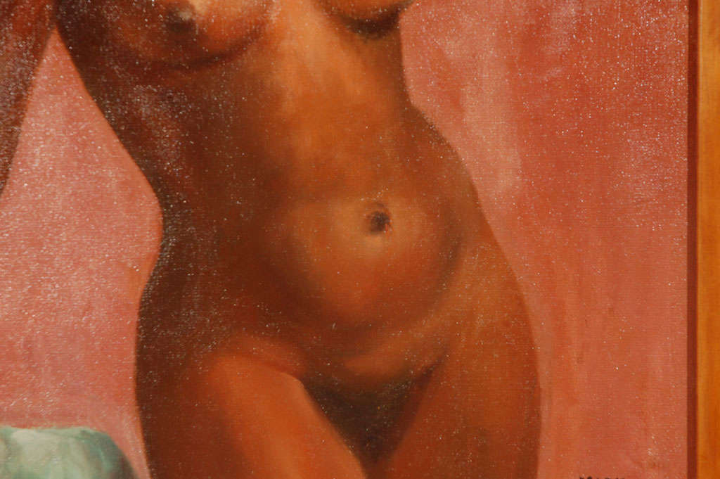 1950's Oil on Canvas Nude Painting By: Mark Mohler 7