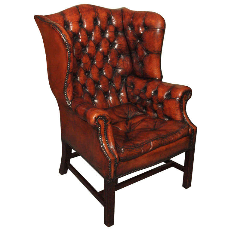 Antique English wing chair at 1stdibs