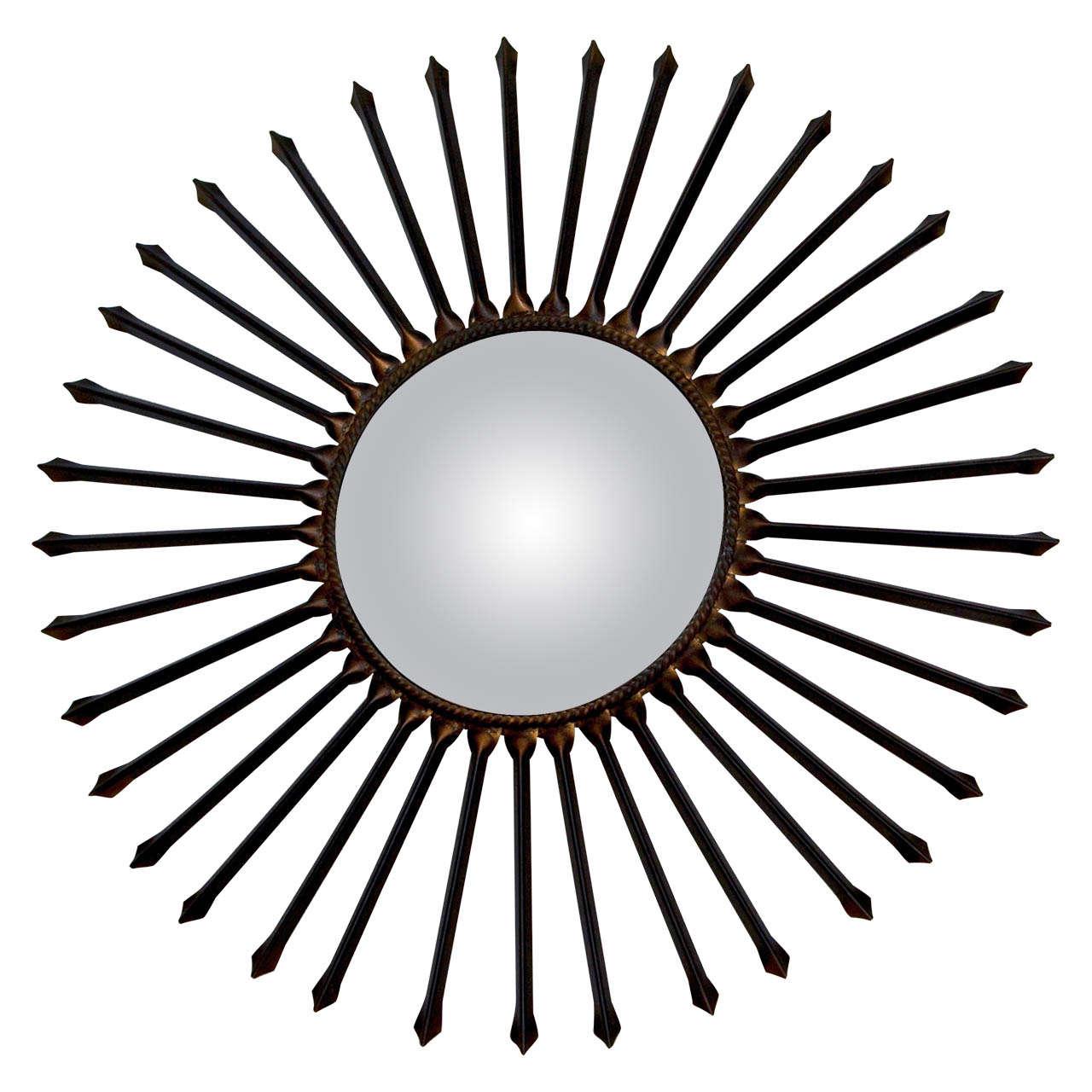 Metal Arrow Sun Ray Mirror For Sale