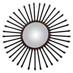 Metal Arrow Sun Ray Mirror