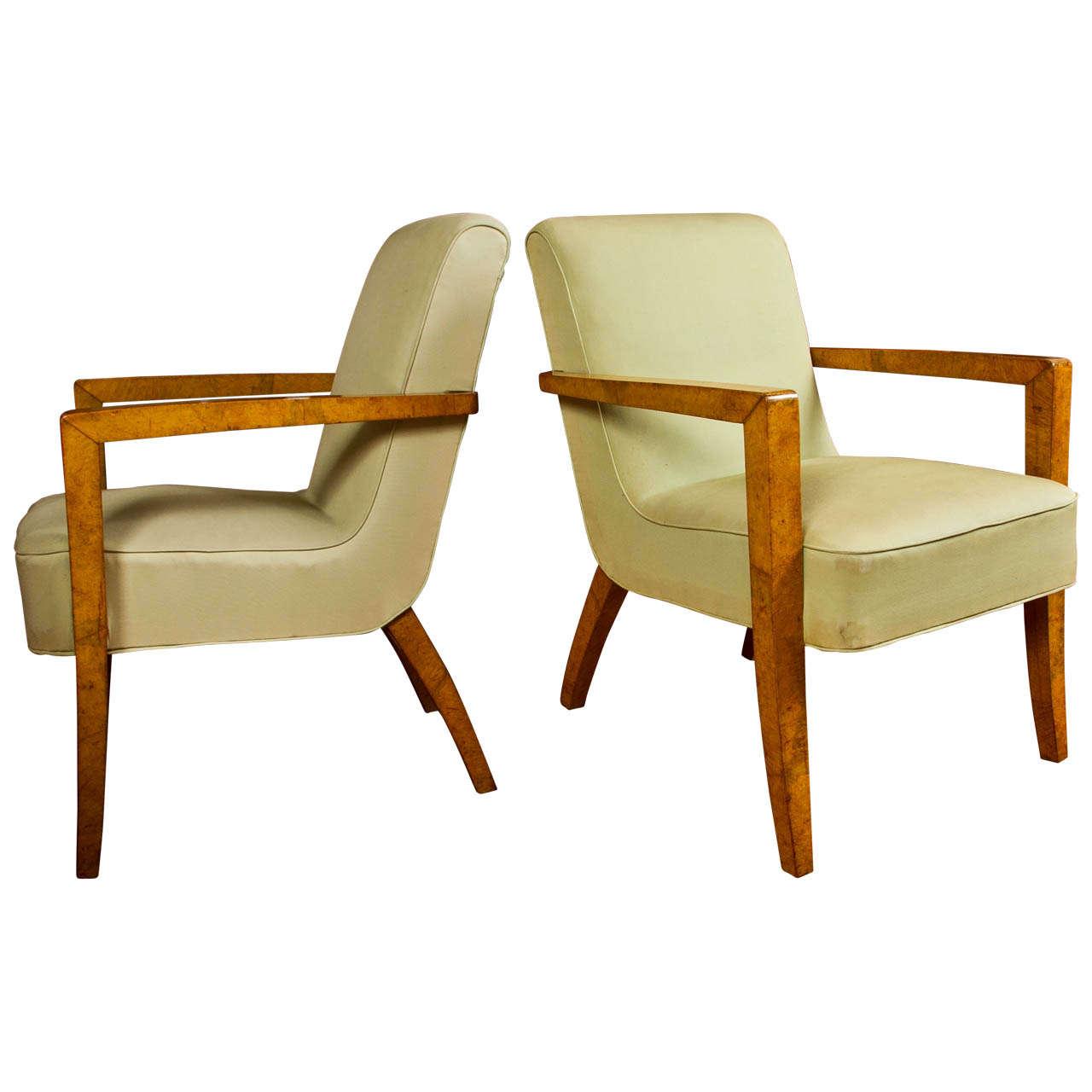 Large Pair of Italian designed Armchairs
