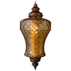 Huge Amber Antique Pendant, Restored