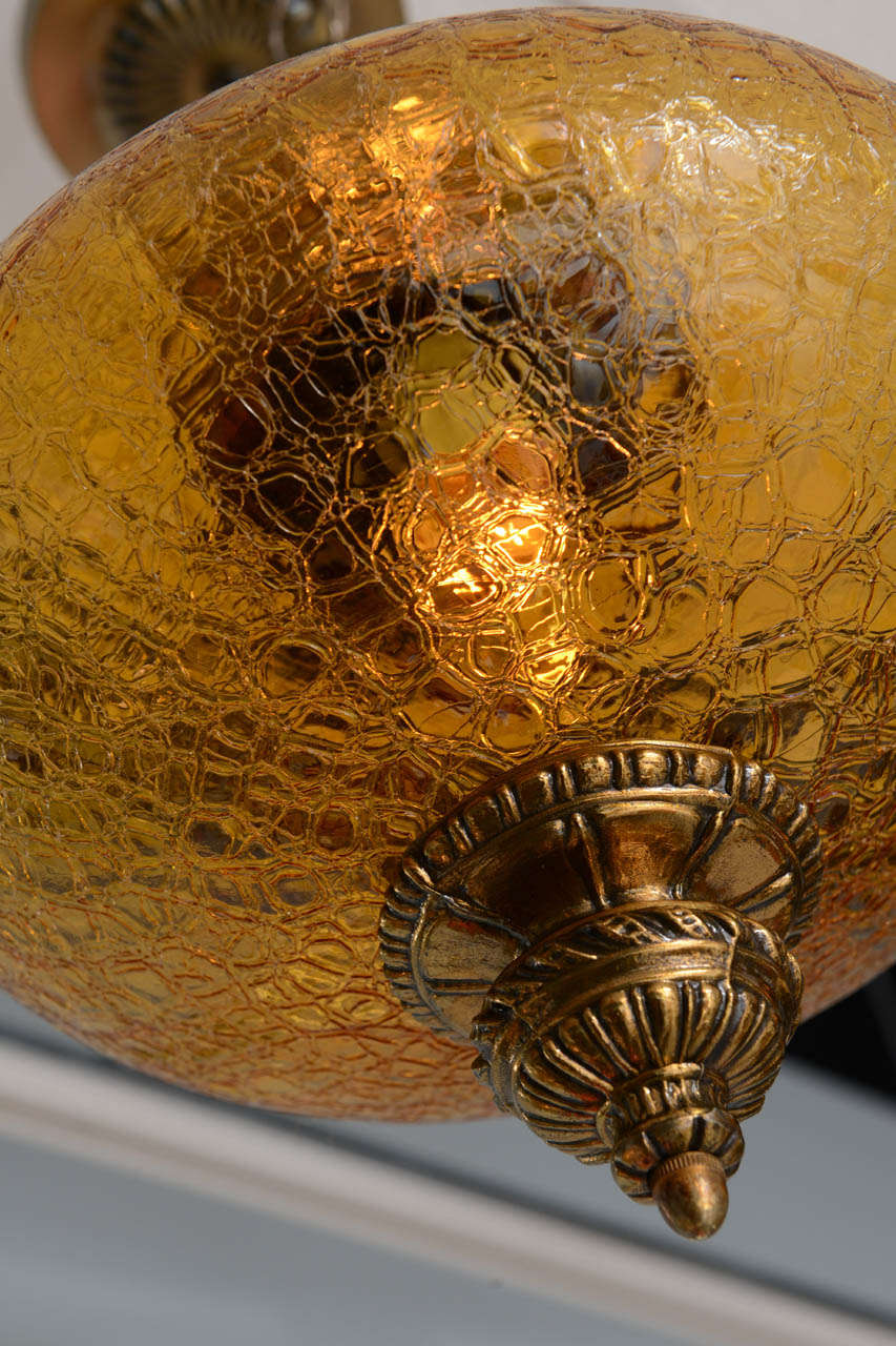 AMBER CEILING PENDANT LARGE ANTIQUE MOVING SALE restored  sale prize at cost For Sale 1