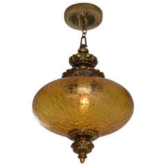Antique Amber Ceiling Pendant