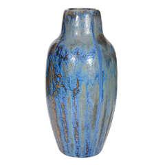 French Art Nouveau Ceramic Vase by Pierrefonds