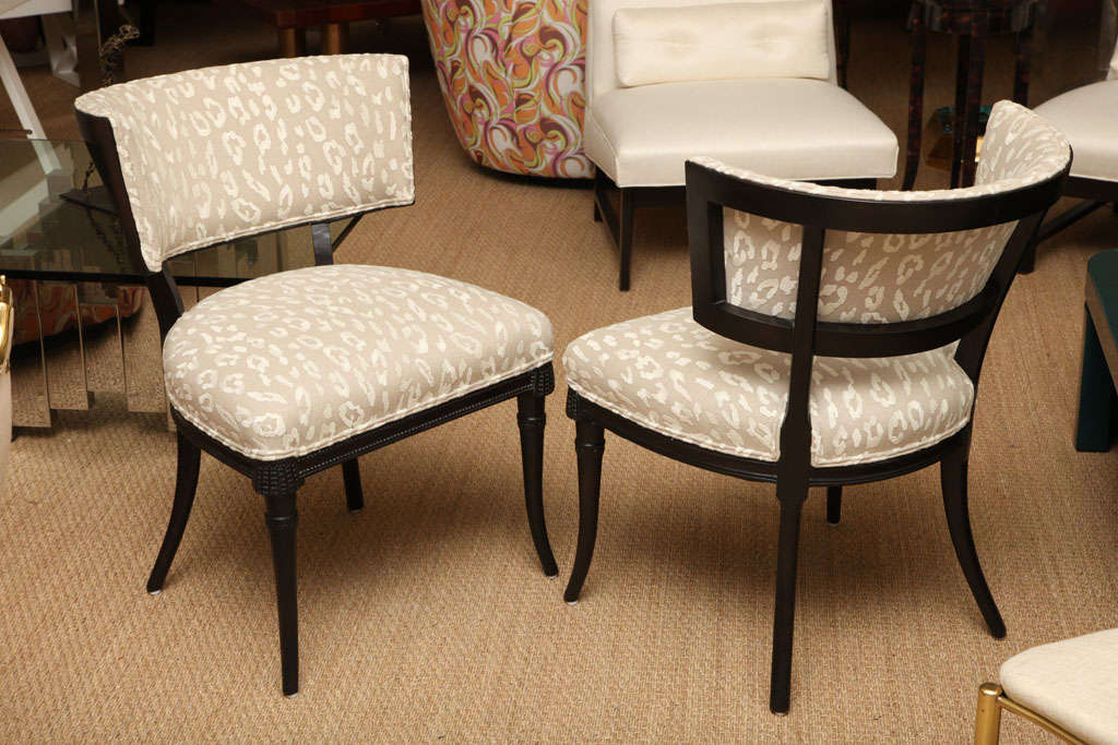 American Sculptural Grosfeld House Side or Slipper Chairs Mid-Century Modern For Sale